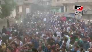 زغاريد وتصفيق أثناء تشييع جنازة أحد شهداء الشيخ زويد بالدقهلية