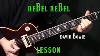 "how to play ""Rebel Rebel"" on guitar by David Bowie 