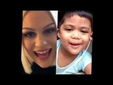 Cute Little Boy Singing Flashlight With Jessie J