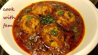 Dhaba Style Anda Masala Recipe /ढाबा स्टाइल अंडा मसाला रेसिपी/Egg Masala Recipe - English Subtitles