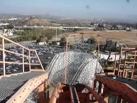 Goliath POV Front Seat Six Flags Magic Mountain California
