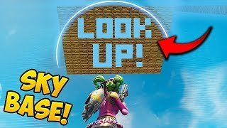 SKY BASE TROLL *GONE WRONG!* - Fortnite Funny Fails and WTF Moments! #333