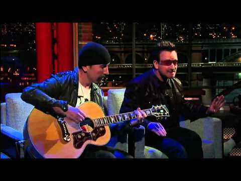 U2 Bono & The Edge Perform 'Stuck In a Moment' on David Letterman