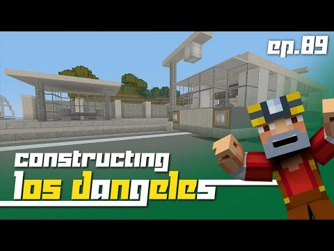 Minecraft Xbox 360: Constructing Los Dangeles - Episode 89! (bus Stop!) video