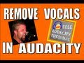 How to remove vocals from a song in Audacity & keep the low end strong - uncommon 2nd step