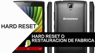 Lenovo A2010 Hard Reset O Restauracion De Fabrica