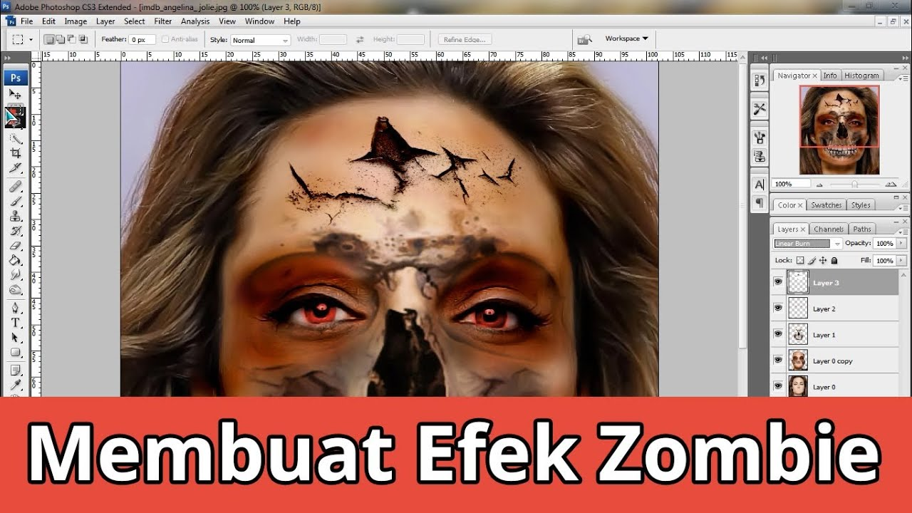 Tutorial Photoshop Membuat Efek Zombie - YouTube