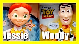 Toy Story Talking Toys - Lots Of Laughs Woody - Cowgirl Jessie - Evil Dr Porkchop Disney Pixar Toys