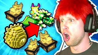 UNBOXING A GOLDEN DRAGON EGG!! UNBOXING OVER 100 GREATER DRAGON CACHE in TROVE!!