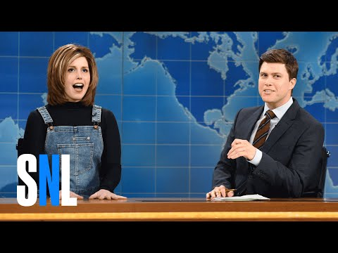 """Vanessa Bayer gives a pitch-perfect """"Rachel from Friends"""" impression on Weekend Update"""