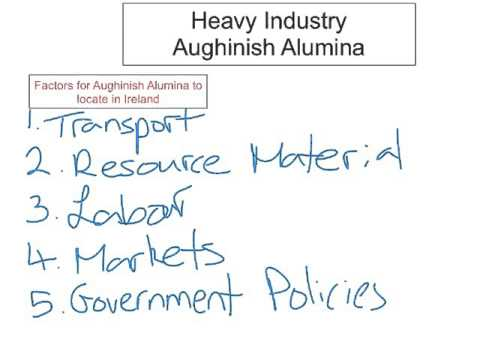 Secondary Economic Activity - Heavy Industry