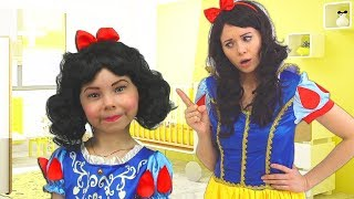 Alice and Mommy Pretend Princesses & Play Together with favorite toys