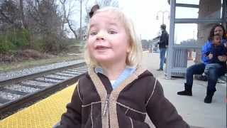 Young Girl Celebrates Birthday With First Train Ride