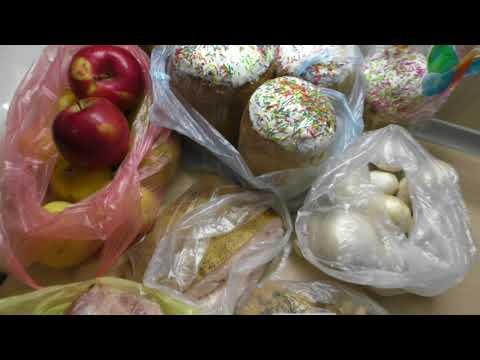 Покупка продуктов, мясо на шашлык, пасхальные куличи(паски)
