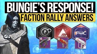 Destiny 2 News | BUNGIE'S FACTION RALLY RESPONSE! - The DLC Weapon & Lost Sector Lockouts Disaster!