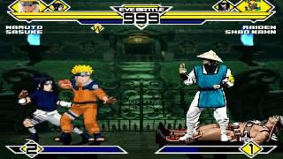 Naruto & Sasuke vs Raiden and Shao Kahn MUGEN Battle!!!