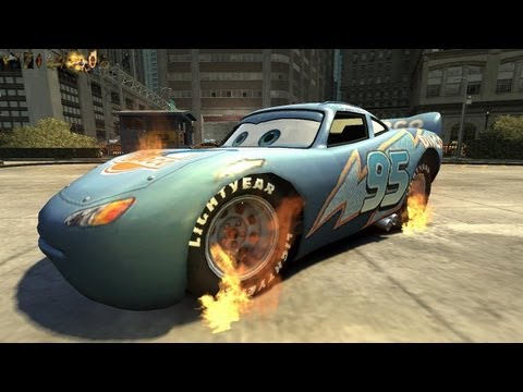 Grand Theft Auto IV - Rayo Dinoco Lightning MqQueen (GHOST RIDER MOD) HD