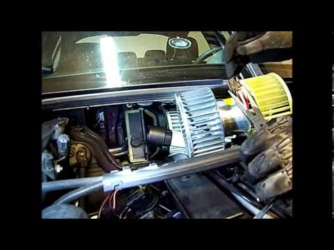 e46 BMW 330i Heater. AC Blower Motor Fan Replacement