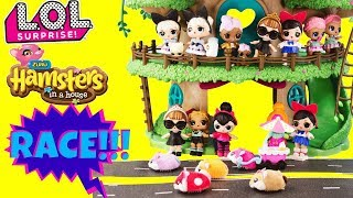 LOL Surprise Dolls The Fast And The Furriest Race With Zuru Hamsters In A House Toys