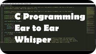 ASMR Ear to Ear Whisper About C Programming for Relaxation (Layered Typing Sounds) Pt. 1