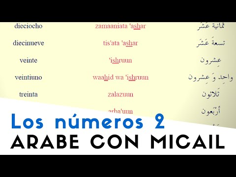 Los números árabes (2º parte) - الأرقام | Árabe con Micail - Aprender árabe online