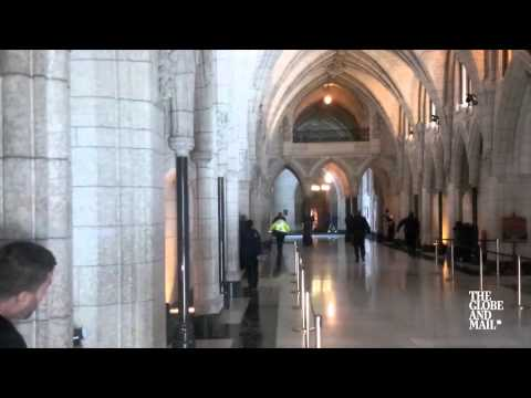Globe and Mail footage captures shooting in Parliament building...