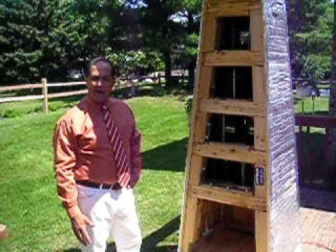 Home Made Solar Panel Tower With Wind Turbine Prototype