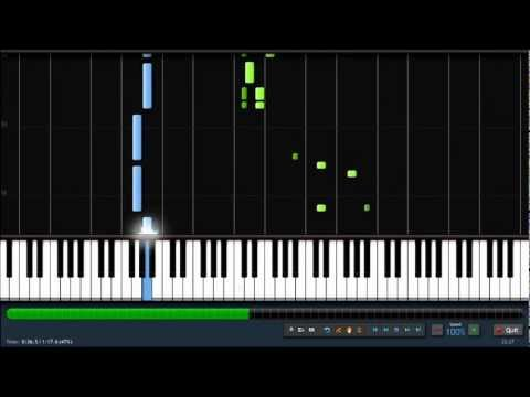 He's a Pirate - Easy Piano Tutorial (100% Speed) Synthesia Music Videos