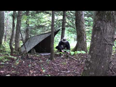 Tarp Set-Up to use with an Open Fire