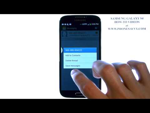 Samsung Galaxy S4 - How Do I Save Text Messages to my SD Card