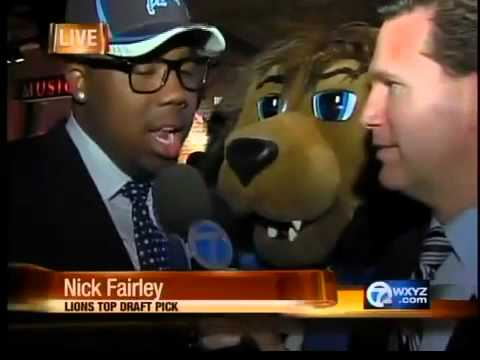 Lions Top Draft Choice Nick Fairley at the Hard Rock Cafe