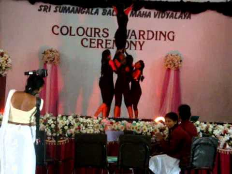 aerobics gymnastic display - Panadura Sri Sumangala girls school aerobics team