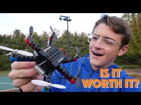 How Good is a DIY 6 Rotor Lego Drone?? (FlyBlocks Kit Review)