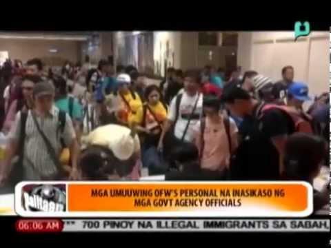 [Balitaan] Mga umuuwing OFWs, personal na inasikaso ng mga gov't agency officials [08|18|14]