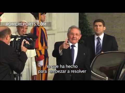 """Raúl Castro pide al Papa: """"Rece por mí"""""""