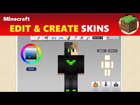 Minecraft: Create & Edit Existing & Custom Minecraft Skins