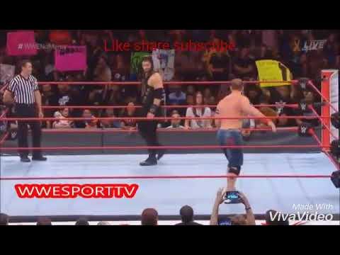 John Cena vs Roman reigns with Punjabi song munda badman Ho gya and high rated gabr24 sep. 2017 live