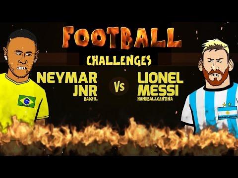 Neymar vs Messi: FOOTBALL CHALLENGES! (Parody Brazil vs Argentina 3-0 2016 World Cup 2018) thumbnail