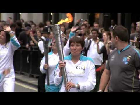 London 2012 Paralympic Games:Torch travels to Olympic Stadium, opening ceremony,Piccadilly Circus.