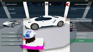 Buying the new car! Vehicle simulator ROBLOX