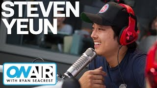 Steven Yeun Plays Ball In The Air! | On Air with Ryan Seacrest