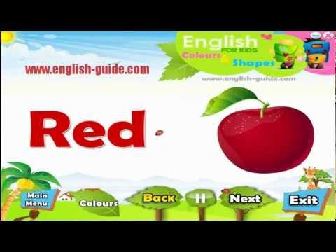 Colours تعليم الاطفال الانجليزية - الالوان