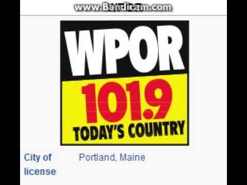 WPOR 101.9 Portland, ME TOTH ID at 6:00 p.m. 7/6/2014
