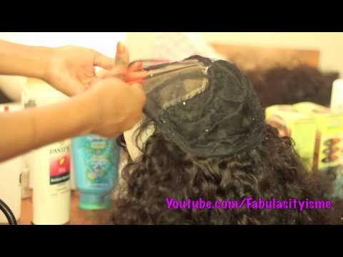 Making My Wig with a LACE CLOSURE =)