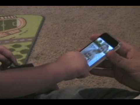 Thumb iPhone used by a 1 year-old boy