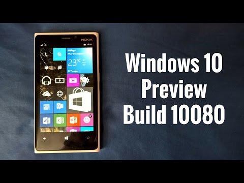 Windows 10 Mobile Preview Build 10080, novedades