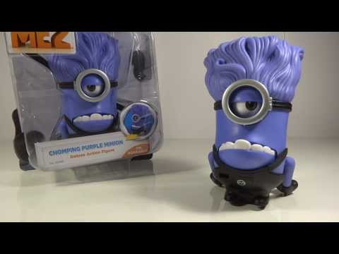 Despicable Me 2 Chomping Evil Purple Minion Deluxe Toy Review