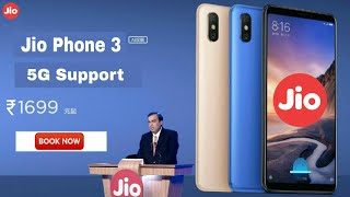 Jio Phone 3 5G Support Launch Date, Full Specification Rs.1500 Smartphone | BOOK NOW