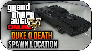 GTA 5 PS4 Gameplay RARE Duke O'Death Spawn Location GTA 5 Rare Car (GTA 5 PS4 Next Gen)