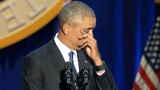 Obama Wipes Away Tear While Thanking Joe Biden